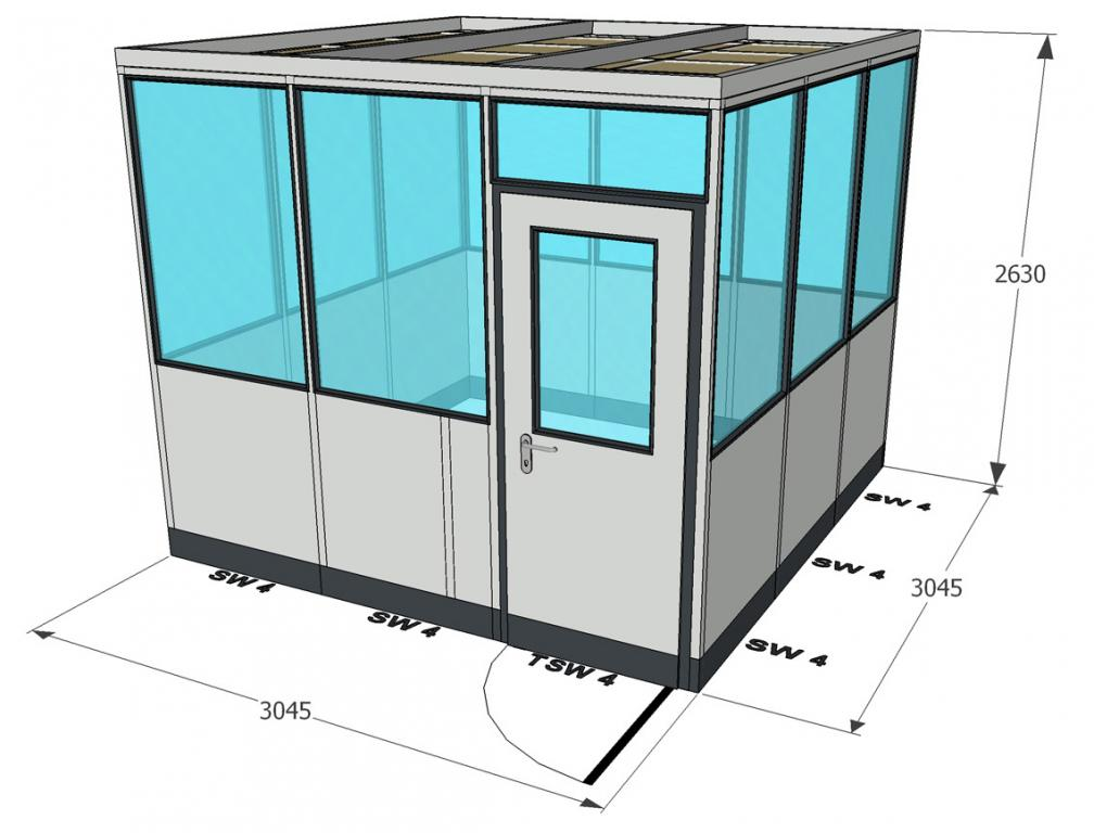 system metallica 45 3x3m b ckeburger raumsysteme. Black Bedroom Furniture Sets. Home Design Ideas